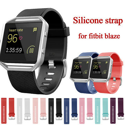 For FitBit BLAZE Replacement Soft Silicone Buckle Sports Wristband Strap Band UK