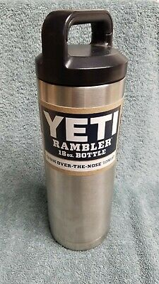 Yeti Rambler Double Wall Vacuum Insulated Water Bottle, Stainless Steel, 18 oz