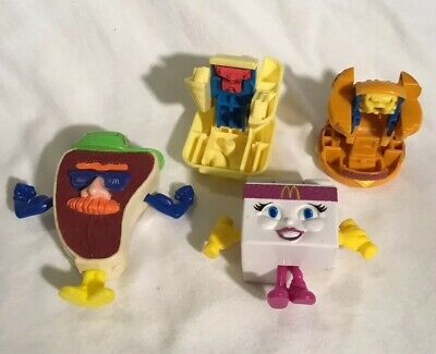 Lot of 4 Vintage McDonald's Changeables (Transformers) Happy Meal Toys 1987 1993