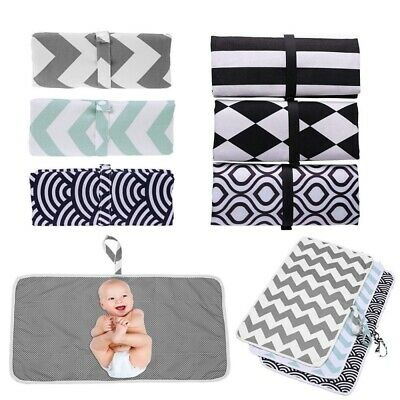Newborn Baby Portable Foldable Washable Travel Nappy Diaper Play Changing Mat