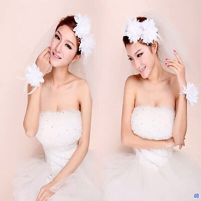 Bridal Corsage Hair Clips Fascinator Hairband Brooch Hot Flower Feather Bead