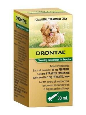 DRONTAL Worming Suspension for Puppies and Small Dogs - 30mL