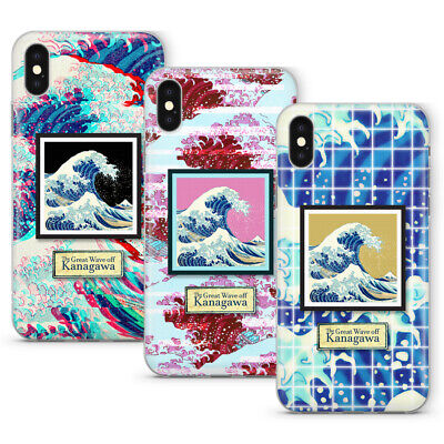 The Great Wave off Kanagawa iPhone Phone Case Cover Glitch Vaporwave Aesthetics