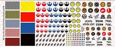 Waterslide Decals Star Wars Mandalorian and Sith 1//18 Scale Custom Tattoos