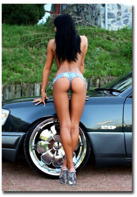 Mini Jean Sexy Girls And Hot Cars Fridge Toolbox Magnet Size 2.5_x 3.5_