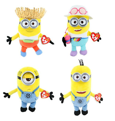 TY Beanie Babies Despicable Me 3 SET OF 7 Fluffy Tom Tim Mel Jerry Dave Carl