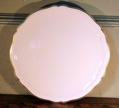 "VINTAGE 13"" 34cm Rosenthal Chippendale Gilded Gold Round Serving Platter Plate"