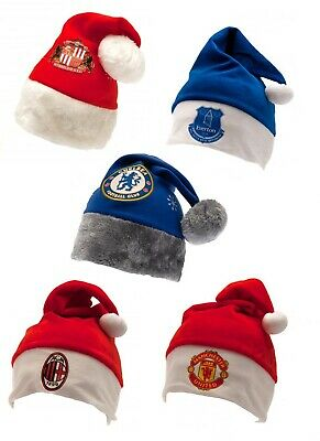 Official Football Club Team Christmas Santa Hats Xmas Gift Soccer Merchandise