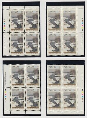 CANADA MATCHED SET PLATE BLOCKS 1256MNH 38c x 16 CHRISTMAS (WINTER LANDSCAPES)