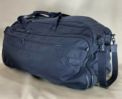 "Briggs & Riley Black Ballistic 30"" Rolling Wheeled Duffle Bag Travel Luggage"