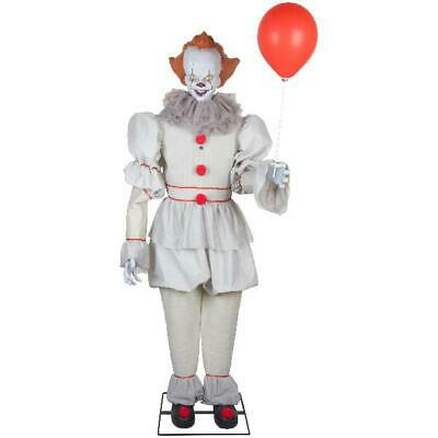 6 ft Halloween Animated Pennywise IT Clown Life Size Prop Decoration Scary Demon