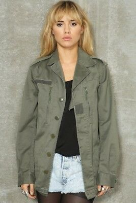 New Women's French F2 olive jacket coat surplus army military retro urban ladies
