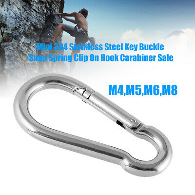 Mini Stainless Steel Carabiner Key Chain Keychain Clip Hook Outdoor Buckle