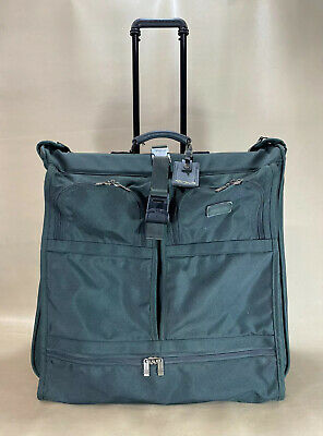 "Preowned Tumi USA Green Ballistic Nylon 24"" Large Wheeled Garment Bag Luggage"
