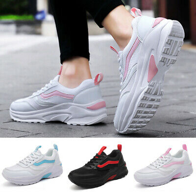 Women's Casual Sports Shoes Lace Up Round Toe Athletic Training Jogging Sneakers