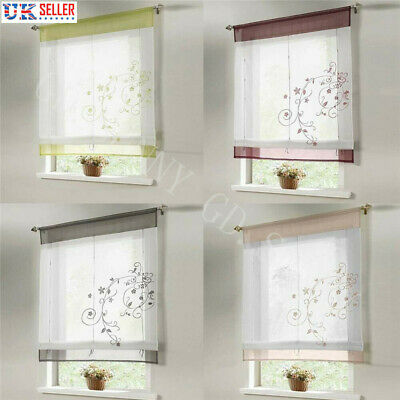 Voile Panel Kitchen Ready Made Net Curtains Window Drapes Roman Blinds Decor Uk 7 58 Picclick Uk