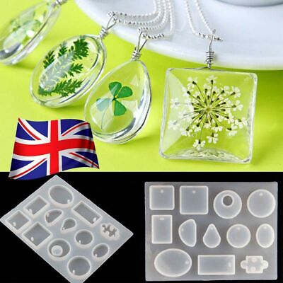 Silicone Pendant Mold Making Jewelry For Resin Necklace Mould Craft DIY Tool UK