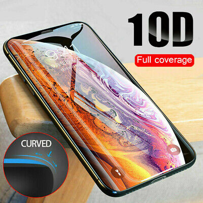 For iPhone 11 Pro Max/ 11 Pro 10D Full Coverage Tempered Glass Screen Protector