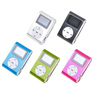 AU_ Portable Mini Metal Clip LCD Screen USB 2.0 TF Card MP3 Sports Music Player