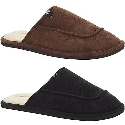 Animals Mens Halfpipe Warm Winter Lounging Slip On Microsuede Slippers