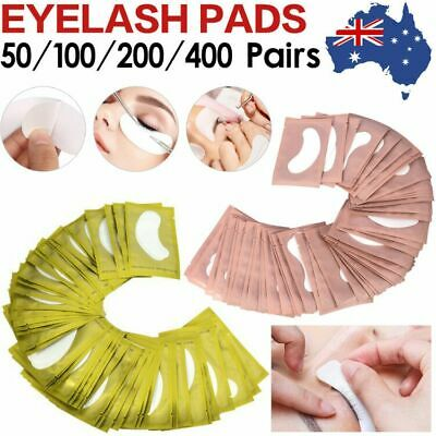 50/400Pairs Under Eye Curve Eyelash Extension Pads Gel Patch Lint Free Beauty