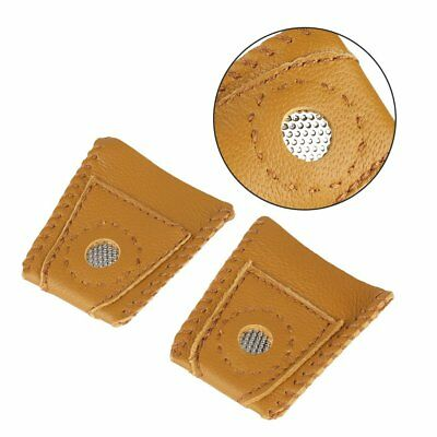1 PC Finger Leather Thimble Sheepskin With Metal Tip For Sewing Needle Quilting
