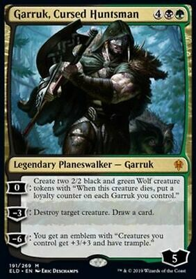 *Magic MtG: GARRUK, CURSED HUNTSMAN (Mythic) - Throne of Eldraine *TOP*