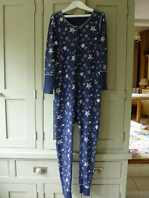 Next girls age 11 navy cotton jersey one piece sleepsuit in excellent condition