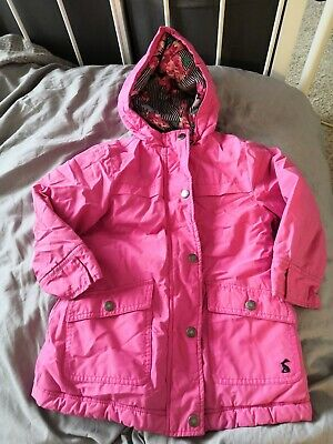 Joules girls pink coat age 3