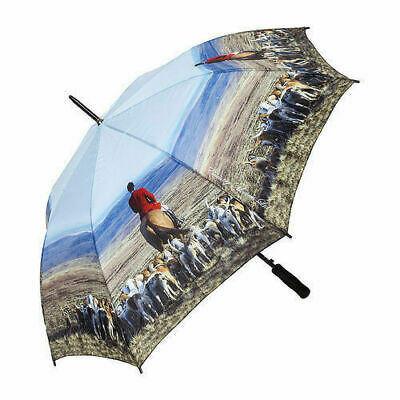 Country Matters Large Adult Soft Grip Handle Brolly Umbrella - Hounds and Master