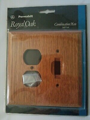 Permabilt Royal Oak Combination Plate NIP Switch with Plug in port screws includ