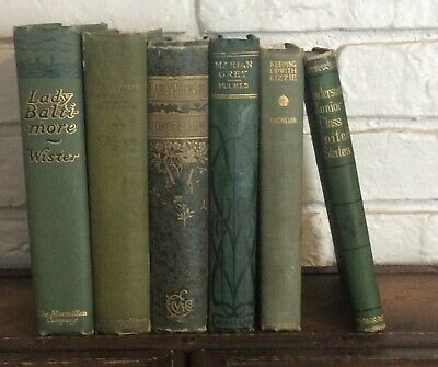Lot Of Antique Vintage Books Shabby Farmhouse/Green/FallDecor/ Rustic/Free Ship