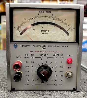 HEWLETT PACKARD 400F RMS AC VOLTMETER for PARTS or REPAIR