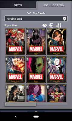 Topps MARVEL COLLECT! Complete Heroines of Marvel GOLD Cards - Complete Set