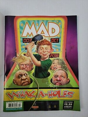 Mad Magazine October 2018 Whak-A-Holes FREE SHIPPING CB