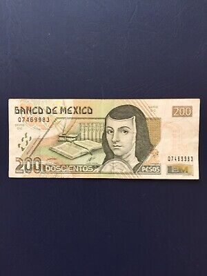 Circulated 200 Denomination Mexican Bank Note. Ideal For An Avid Note Collector.