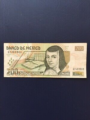 Mexican Peso 200 Denomination Bank Note. Ideal For Collection.