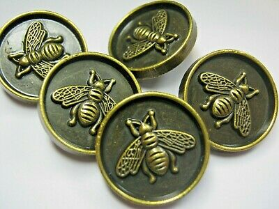 100% Gucci 🌺 5 buttons  Bronze COLOR  brass BEE 18 mm  lot 5 ❤️ ADORABLE