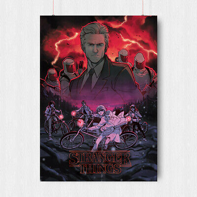 Stranger Things Poster Film Tv Series  Sci Fi  Wall Art Image A3 A4 Size
