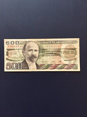 Mexican Peso 500 Denomination Bank Note. Ideal For Collection