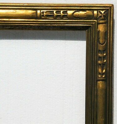 Vintage carved gold leaf frame fits 20 x 30 painting,arts and crafts style