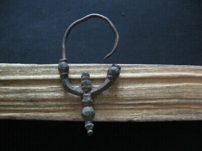 Corn Form Crescent Moon Earring Ancient Celtic Bronze Lunar Earring 300-100 B.c.