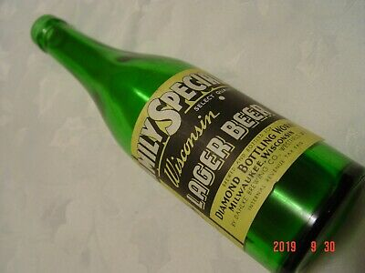 Rare IRTP Family Special lager beer bottle - Dahlke Brewing Co, Westfield, WI