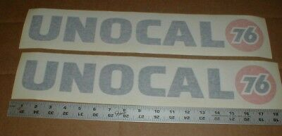 2 NOS Vtg Unocal gas station dealer Union 76 diecut racing decal stickers 18""