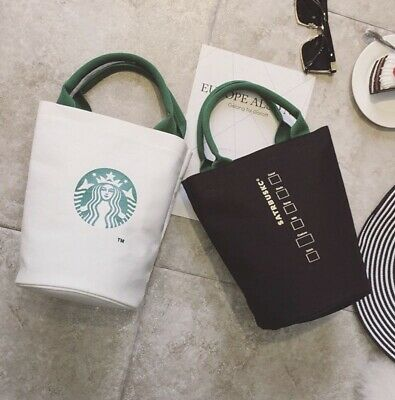Starbucks Reusable Canvas Tote Bag, Coffee, White, Black, Grey, Reusable Lunch