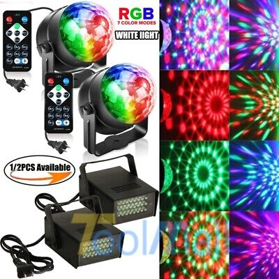 RGB Party Disco Lights Ball Sound Activated Strobe Led DJ Bulb Dance Lamp 2019