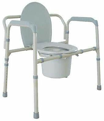 Drive Medical Bariatric Folding Commode, 7.5 Pound