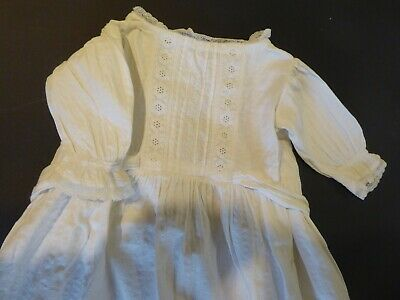 Antique Victorian Christening gown, baby dress, dolls clothes