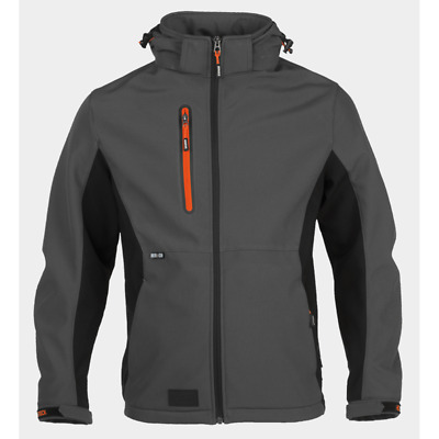 Herock Trystan Softshell Water Repellent Breathable Jacket Coat - Anthracite