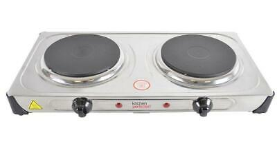 2000W Double Hotplate, Stainless Steel - KITCHEN PERFECTED